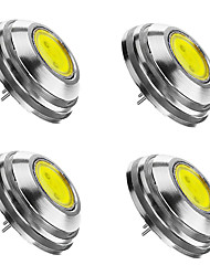 cheap -4pcs 2 W LED Spotlight 3000/6000/6500 lm G4 1 LED Beads COB Dimmable Warm White Cold White Natural White 12 V / 4 pcs / RoHS