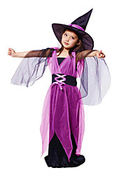 cheap -Witch Cosplay Costume / Halloween Props / Party Costume Movie Cosplay Purple Dress Christmas / Halloween / Carnival Polyester