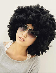cheap -Synthetic Wig Straight Yaki Afro Straight Wig Short Natural Black Synthetic Hair Women's Black
