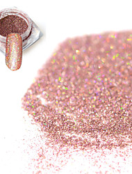 cheap -0 2g bottle fashion sweet style bare pink shining pigment diy charm decoration nail art laser glitter holographic fine powder jx15