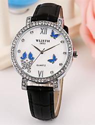 cheap -Women's Fashion Watch Quartz Leather Black / White / Pink Analog Casual - White Black Pink