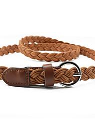 cheap -Women's Skinny Belt Party Street Dailywear Daily White Red Belt Pure Color Work Basic Orange Fall Winter