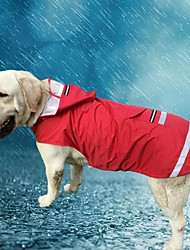 cheap -Cat Dog Hoodie Rain Coat Solid Colored Casual / Daily Waterproof Outdoor Dog Clothes Red Blue Costume Oxford cloth Terylene XXXL XXXXL XXXXXL