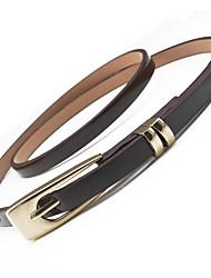 cheap -Women's Skinny Belt Weekend Belt Solid Colored / PU / Alloy