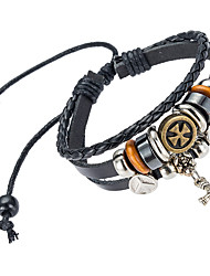 cheap -Men's Leather Bracelet Natural Fashion Leather Bracelet Jewelry Black For Special Occasion Gift Sports