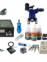 cheap -Tattoo Machine Starter Kit - 1 pcs Tattoo Machines with 1 x 5 ml tattoo inks, Professional LCD power supply Case Not Included 1 rotary