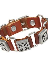 Недорогие -Кожаные браслеты Дамы Природа Мода Кожа Браслет Ювелирные изделия Черный / Коричневый Назначение Особые случаи Подарок