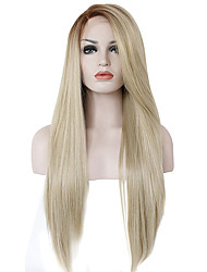 cheap -ombre color synthetic lace front wigs straight hair heat resistant fiber hair wig for woman