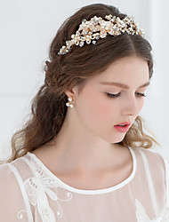 cheap -Tulle Tiaras / Headbands with Feather 1 Event / Party Headpiece