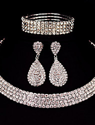 cheap -Women's Jewelry Set Classic Basic Earrings Jewelry Silver For Christmas Gifts Wedding Party Special Occasion Anniversary Birthday / Engagement / Valentine