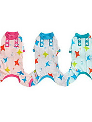 cheap -Dog Pajamas Stars Casual / Daily Dog Clothes Light Green Pink Green Costume Cotton S M L XL XXL