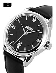 cheap -Men's Sport Watch Smartwatch Wrist Watch Digital Genuine Leather Multi-Colored 50 m Calendar / date / day Chronograph Creative Analog Charm Classic Fashion Dress Watch Unique Creative - Black Brown