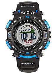 Недорогие -Муж. Модные часы Цифровой силиконовый Черный Цифровой Черный / Желтый Черный / Синий Черный / Красный
