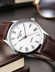 cheap -Men's Fashion Watch Quartz Classic Style Leather Black / Brown Analog Casual Simple watch - White Blue