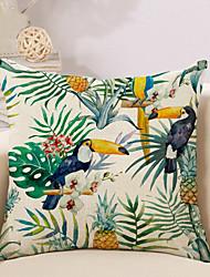 cheap -1 pcs Cotton / Linen Pillow Cover Pillow Case, Novelty Animal Printing Vintage Casual Retro