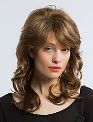 cheap -ethereal mixed color long curly hair human hair wigs woman hair