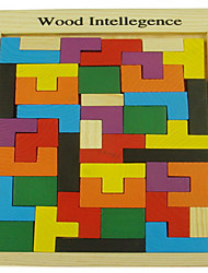 cheap -Tetris Building Blocks Jigsaw Puzzle Wooden Puzzle Wooden Model 1 pcs Education Unisex Boys' Girls' Toy Gift