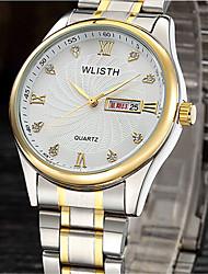cheap -Men's Fashion Watch Quartz Silver / Gold Analog Casual - White Black