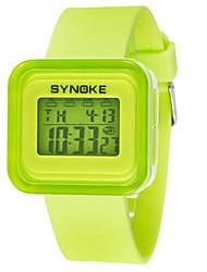 Недорогие -Жен. Модные часы электронные часы Цифровой силиконовый Черный / Белый / Синий Цифровой Зеленый Синий Розовый