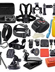 abordables -Accessoires Kit Imperméable 42 en 1 42 pcs Pour Caméra d'action Gopro 6 Gopro 5 Xiaomi Camera Gopro 4 Gopro 4 Silver Plongée Surf Chasse et Pêche Plastique Nylon EVA / Gopro 1 / Gopro 2 / Gopro 3