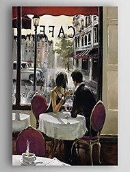 cheap -Oil Painting Hand Painted - People Contemporary Artistic Style Abstract Stretched Canvas