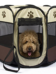cheap -Dog Carrier Bag & Travel Backpack Bed Adjustable Waterproof Portable Solid Colored Fabric Yellow Red Coffee / Foldable