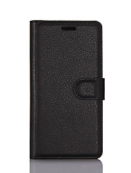 cheap -Case For ZTE ZTE Nubia Z11 mini / ZTE Nubia Z7 Mini / ZTE Blade V7 Lite Wallet / Card Holder / with Stand Full Body Cases Solid Colored Hard PU Leather