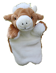 cheap -Stuffed Animal Plush Toys Plush Dolls Stuffed Animal Plush Toy Bull Plush Fabric Imaginative Play, Stocking, Great Birthday Gifts Party Favor Supplies Girls' Kid's