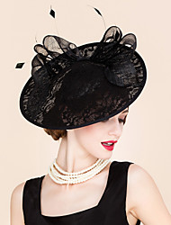 cheap -Lace / Feather Kentucky Derby Hat / Headbands / Fascinators with 1 Special Occasion / Outdoor Headpiece