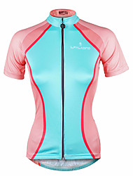 cheap -ILPALADINO Women's Short Sleeve Cycling Jersey Bike Jersey Top Mountain Bike MTB Road Bike Cycling Quick Dry Ultraviolet Resistant Reflective Strips Sports Clothing Apparel / Stretchy / Back Pocket