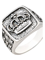 cheap -Women's Couple's Ring Silver Alloy Geometric Basic Wedding Jewelry Engraved