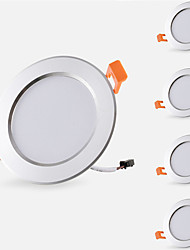 cheap -5pcs 5 W 500 lm 10 LED Beads Easy Install Recessed LED Recessed Lights LED Downlights Warm White Cold White 85-265 V Cabinet Ceiling Home / Office / 5 pcs / RoHS / CE Certified