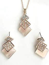 cheap -Women's Jewelry Set Ladies Basic Earrings Jewelry Gold For Wedding Party Special Occasion Birthday Thank You Gift
