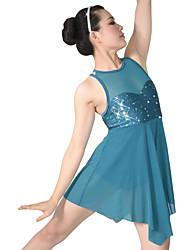 cheap -Ballet Dresses Women's Performance Nylon / Spandex / Sequined Sequin / Draping Sleeveless Natural Dress / Headwear