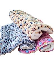 cheap -Cat Dog Bed Mats & Pads Fabric Warm Foldable Soft Stars Yellow Blue Pink