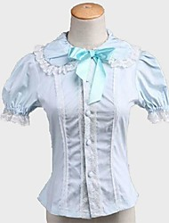 cheap -Princess Classic Lolita Dress Blouse / Shirt Women's Girls' Japanese Cosplay Costumes Solid Color Short Sleeve