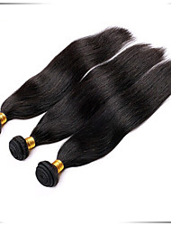 cheap -Brazilian Hair Straight Body Wave Human Hair Natural Color Hair Weaves / Hair Bulk Human Hair Weaves Human Hair Extensions / Short