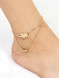 cheap -Women's Barefoot Sandals feet jewelry Elephant Fashion Anklet Jewelry Gold For Daily Casual