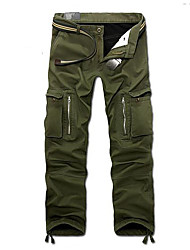 cheap -Men's Street chic / Military Daily Weekend Loose / Chinos / Cargo Pants - Solid Colored Black Army Green Khaki 34 36 38
