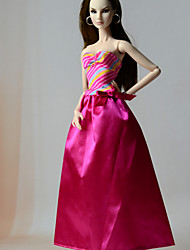 cheap -Doll Dress Dresses For Barbiedoll Fashion Satin / Tulle Fabric Polyester Dress For Girl's Doll Toy
