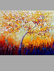 cheap -Oil Painting Hand Painted - Landscape Abstract / Pastoral Canvas