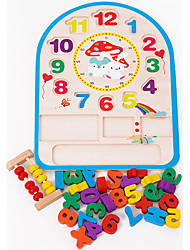 Недорогие -Деревянные часы Игрушки Часы Образование Дерево Детские Куски