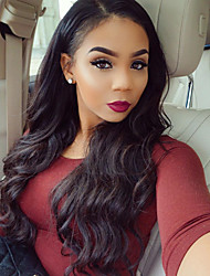 cheap -Human Hair Glueless Lace Front Lace Front Wig style Brazilian Hair Body Wave Wig 130% Density with Baby Hair Natural Hairline African American Wig 100% Hand Tied Women's Short Medium Length Long