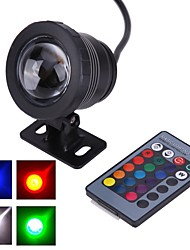 cheap -Outdoor 10 W Submersible Lights Underwater Lights Waterproof Remote Controlled Decorative RGB 12 V Outdoor Lighting Courtyard Garden 1 LED Beads