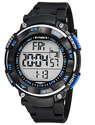 Недорогие -Муж. Модные часы электронные часы Цифровой силиконовый Черный Цифровой Кофейный Синий Камуфляж Зеленый