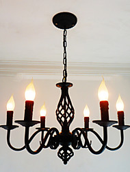 cheap -6-Light 62 cm Candle Style Chandelier Metal Candle-style Others Chic & Modern 110-120V / 220-240V