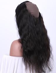 Недорогие -Бразильские волосы 360 Лобовой Волнистый / Естественные кудри / Классика Бесплатный Часть / Средняя часть Швейцарское кружево человеческие волосы Remy Повседневные