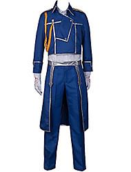 Недорогие -Вдохновлен Стальной алхимик Roy Mustang Аниме Косплэй костюмы Японский Косплей Костюмы Однотонный Пальто / Брюки / Шарф Назначение Муж.