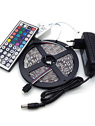 cheap -Led Strip Lights Kit 5050 5M 300leds 10mm RGB 60leds/m with 44key Ir Controller and 3A Power Supply  (EU/AU/UK/US Plug)