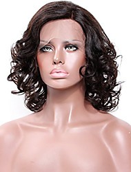 cheap -Remy Human Hair Unprocessed Human Hair Glueless Lace Front Lace Front Wig style Brazilian Hair Straight Yaki Wig 130% Density with Baby Hair Natural Hairline African American Wig 100% Hand Tied